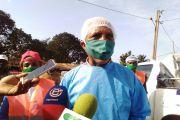 Sensibilisation des populations de Mbouda en général sur les mesures d'hygiène et d'éloignement prescrits